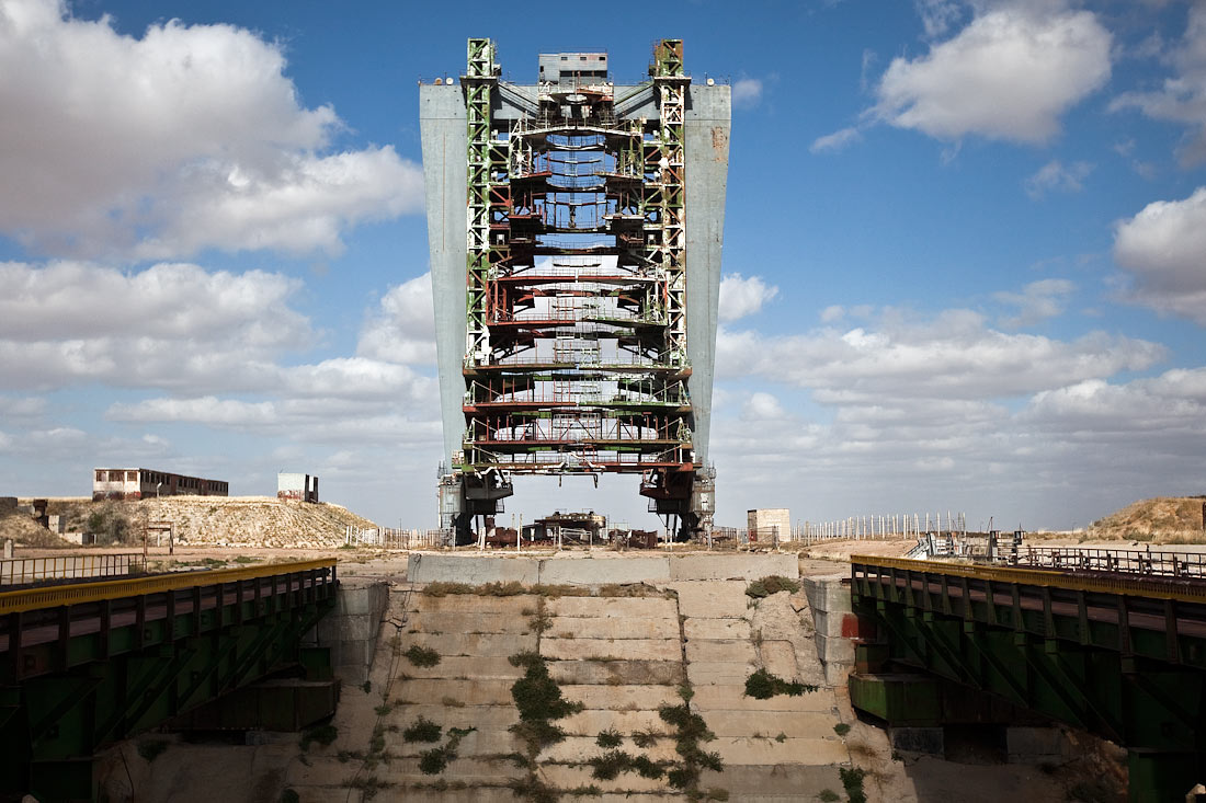 Remains of the Russian Space Shuttle Project at Buran